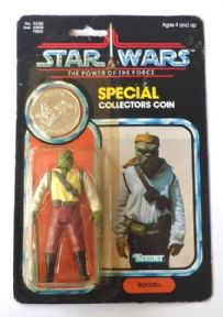 Star Wars POTF Barada Mint on Card Sealed